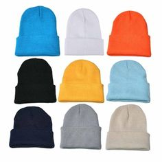 f57701e636a Hot Men Women Knitted Baggy Beanie Winter Warm Hat Ski Slouchy Knitted Cap  Hat  Unbranded