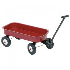 Afmeting: kar x x 7 cm, lengte inclusief stang 101 cm - Metalen Bolderwagen Toddler Toys, Kids Toys, Pull Wagon, Red Wagon, One Piece Pajamas, Metal Toys, Pull Toy, Wheelbarrow, Vintage Children