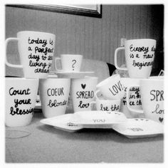 Love this so much. Mugs diy