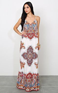 Flying Tomato Raine Maxi Dress | Dress | Paisley | Print | Spring