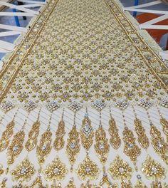 Zardosi Embroidery, Hand Work Embroidery, Embroidery Fashion, Beaded Embroidery, Embroidery Designs, Thai Wedding Dress, Bridal Lehngas, Shyamal And Bhumika, Bollywood Outfits