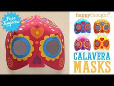 Good to know that there's still time to create a mask for Dia de los Muertos #DDLM https://happythought.co.uk/day-of-the-dead/mask-craft-calavera-templates