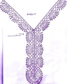 Discover thousands of images about Crochet Necklace Pattern Col Crochet, Crochet Lace Collar, Crochet Lace Edging, Crochet Motifs, Crochet Borders, Crochet Diagram, Crochet Blouse, Thread Crochet, Crochet Trim