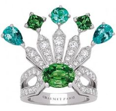 The Wedding Ring by Chaumet / www.joyasdeoro.com/ The EXPLOSION OF COLOUR!  Wedding