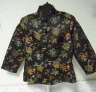 Terrific Susie Wong style brocade top from fredericks of Hollywood Made in the USA! http://www.addoway.com/viewad/fredericks-of-Hollywood-Brocade-Top-Mandarin-Collar-Frog-Closure-Size-8-2727356