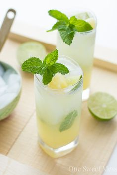 Pineapple Coconut Mojito: This refreshing cocktail is a blend of sweet pineapple, tart lime juice, and creamy coconut milk.