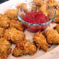 Baked Crispy Ranch Cornflake Chicken Nuggets