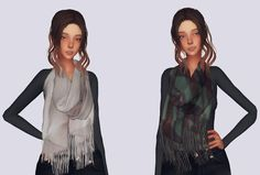 Sims 4 CC's - The Best: Winter Scarf by Elliesimple