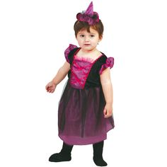 disfraz de brujita lila para beb