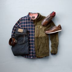Fleece Jacket from @buffalojackson | Denim from FNL Denim | Shirt from @jachsny | Sneakers from @johnstonmurphy