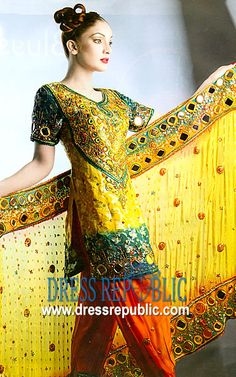 Gold Foster, Product code: DR1300, by www.dressrepublic.com - Keywords: Salwar Kameez for Brides Sister, Salwar Kameez for Grooms Sister Buy Online