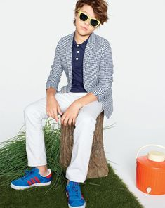 J.Crew Boys' Unconstructed Ludlow jacket in gingham. To preorder call 800 261 7422 or email erica@jcrew.com. {Chris}