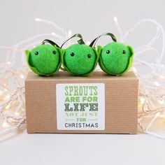 I've just found Christmas Sprout Tree Decoration Set Of Three. The cheeky Christmas Sprouts are now available in a set of Stalking Stuffers, Christmas Makes, Christmas Ideas, Secret Santa, Little Gifts, Tree Decorations, Hand Stitching, Sprouts, Personalized Gifts
