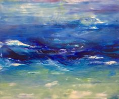 """""""Invitation to Delight"""" 60 x 72 inches, oil on canvas - Water - #WillDayArt in Boulder, CO"""