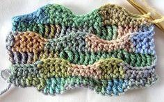 Crochet Wave Stitch. ☀CQ #crochet #tutorial