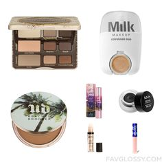 Cosmetics Set With Too Faced Cosmetics Eyeshadow Paraben Free Makeup Urban Decay Cheek Bronzer And Benefit Cosmetics From September 2016 #beauty #makeup