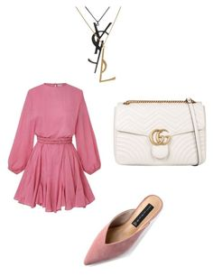 """""""Untitled #203"""" by susannhaabeth on Polyvore featuring Steven, Gucci and Yves Saint Laurent"""