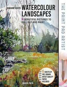 Buy The Paint Pad Artist: Watercolour Landscapes by Grahame Booth at Mighty Ape NZ. This inspiring watercolour landscapes book is part of the exciting and innovative Paint Pad Artist series. Whether you are a beginner or a more experi. Watercolor Art Face, Watercolor Landscape Paintings, Watercolor Paper, Your Paintings, Beautiful Paintings, Art Videos For Kids, Outline Drawings, Art Club