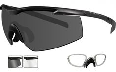 adc4b6ef301f Wiley X Changeable Eyewear · Matte Black Frame/Smoke & Clear Lenses w/  Rx insert #wiley #
