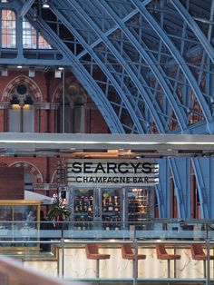 Searcys champagne bar in St Pancras Station London [shared]