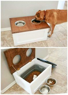 How To Make A Dog Feeding Station With Storage                                                                                                                                                                                 More