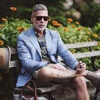 Nick Wooster's Style Nick Wooster, fashion advisor extraordinaire, a gentleman in his own league. I wish I had words to describe this man's style. His tattoos. Nick Wooster, Fashion Advisor, Most Stylish Men, Stylish Man, Blazers, Older Men, Gentleman Style, Creative Director, Sexy Men