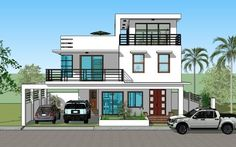 design ideas philippines House Plan Purchase Sets Blueprint Signed & Sealed) - Only Constru. House Plan Purchase Sets Blueprint Signed & Sealed) - Only Construction Contract - P M Low-End/Budget P. 3 Storey House Design, House Front Design, Flat Roof House, Facade House, House Layout Plans, House Layouts, Indian Home Design, Style At Home, Bungalow Haus Design
