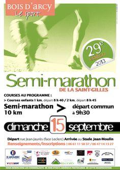 Semi-marathon de la saint-gilles. Le dimanche 15 septembre 2013 à Bois d'Arcy.  09H30