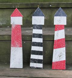 OOAK Reclaimed Wooden Lighthouse Wall hanging by LakeShoreHome, $15.00