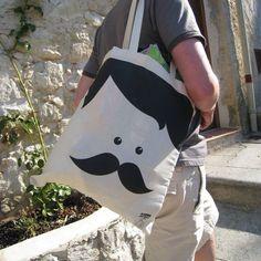 Sac-moustache #Sirenaconjersey : 20€ #design #movember #moustache #sac #designfromparis
