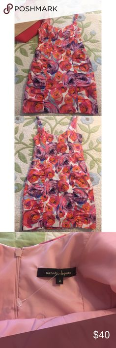 Nanette Lepore floral mini dress Gorgeous Nanette Lepore mini dress with floral print. Fitted with rouching on the sides. Zip up closure in the back. Never worn! Perfect for spring! 🌷 Nanette Lepore Dresses Mini