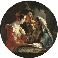 View The fortune teller by Mikhail Ivanovich Skotti on artnet. Browse upcoming and past auction lots by Mikhail Ivanovich Skotti. Vintage Tarot, Tarot, Tarot Art, Artist, Painting, Russian Artists, Divination, Fortune Teller, Oracle Cards