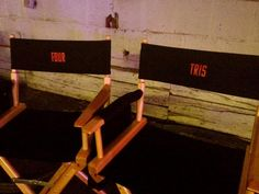 Theo James and Shailene Woodleys film chairs, Four and Tris <4