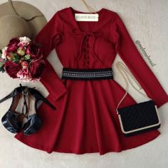 Valentine here we come! Crop Top Outfits, Dress Outfits, Cool Outfits, Dress Up, Stylish Dresses, Cute Dresses, Blush Prom Dress, Mein Style, Girl Fashion