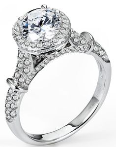 2.80 ctw EGL 18k White Gold F SI1 Round Brilliant Diamond Engagement Ring