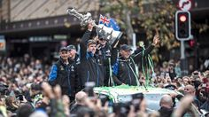 Thousands line the streets to welcome home Team New Zealand and the America's Cup Auckland New Zealand, Home Team, South Island, Welcome Home, Sports News, Victorious, Fun Facts, America's Cup, Yachts