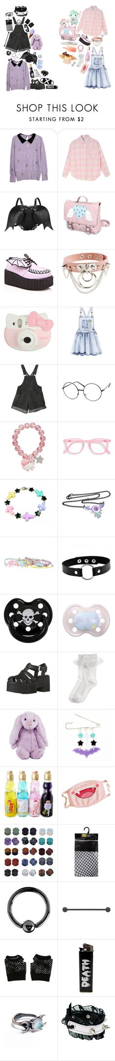 """""""[ little buddies ]"""" by spxceboi ❤ liked on Polyvore featuring Chicnova Fashion, Demonia, Hello Kitty, Billieblush, Hot Topic, Rock Star Baby, Monsoon, Jellycat, Urbiana and Dsquared2"""