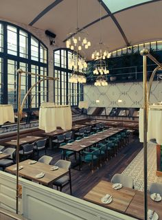 Barcelona 'macro-space' plays the winning card with its heyday spirit and decadent interiors... http://www.we-heart.com/2015/01/09/el-nacional-barcelona/
