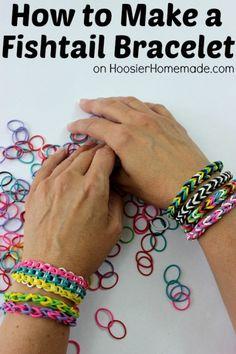 How to Make a Fishtail Bracelet   Instructions on HoosierHomemade.com