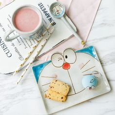 Doraemon Tableware from Apollo Box Diy Kitchen Projects, Apollo Box, Art Projects For Adults, Jewelry Organizer Wall, Fruit Dishes, Ceramic Tableware, Kitchen Gifts, Doraemon, Glazed Ceramic