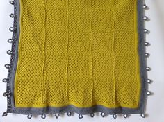 Crochet blanket mustard and grey crochet throw crochet by BabanCat
