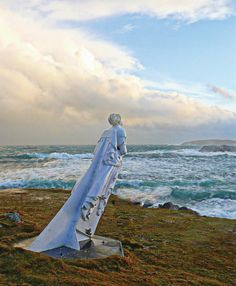 The White Wife is a ship's figurehead that was washed ashore on the Island of Yell, Shetland Islands in the 20s