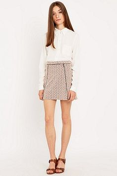 Urban Outfitters Spotted Jacquard Pelmet Skirt