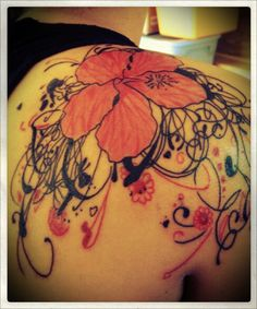 I got this tattoo about a week after my 18th birthday. I saw a picture of a hibiscus flower when I was 8 and I just fell in love. I got it at Rebellious Addiction in Mesa, AZ by Tony. I loved my tattoo artist, he made my 1st tattoo experience great.