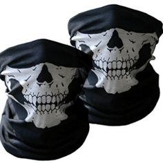 Buy 36 pcs Skull Jaw Bone Bandana Sport Face Mask Paintball Biker Scarf Head Wrap at online store Kevlar Jeans, Visage Halloween, Skull Motorcycle Helmet, Motorcycle Helmets, Snowboard, Crane, Skull Face Mask, Face Masks, Biker