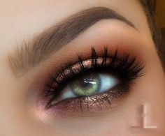 Spot light eye – Idea Gallery - Makeup Geek Green eyes eye makeup. Gold, peach, bronze, copper eyeshadow. Makeup for light eyes