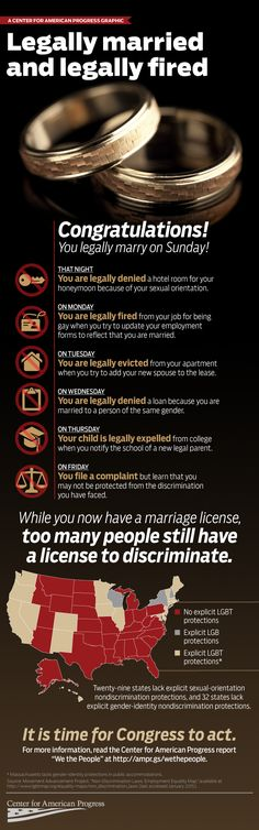 #LoveWins ...but Legally Married & Legally Fired [Infographic] like Vanessa Williams said, we got work to do...