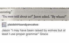 Mister Jason the Grammar King    HoO