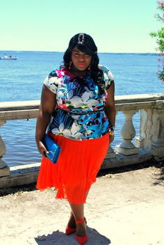 Plus Size Women's Fashion by PS Blogger Musings of a Curvy Lady #asos #neon #springtime