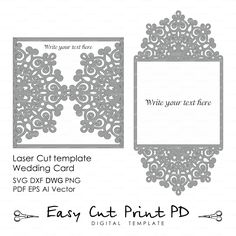 Vintage Lace crochet doily Wedding invitation Rustic Pattern Elegant save the date Card Template lasercut (svg dxf dwg ai eps png pdf)